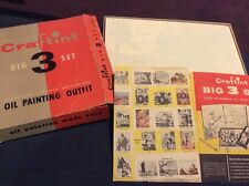 Vintage CRAFTINT BIG 3 SET Paint by Number Kit Series D1 Mill