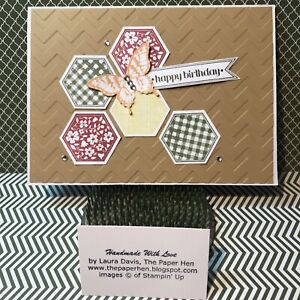 Handmade Card HAPPY BIRTHDAY : BUTTERFLY Stampin Up ~The Paper Hen