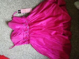 Xs Gino Cerrutti Evening/prom/ball Gown, Strapless Fuchsia