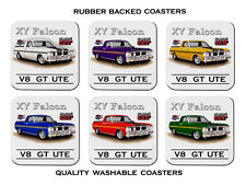 FORD  71'  XY   351GT  UTE  SUPER  ROO   SET OF 6 QUALITY RUBBER DRINK  COASTERS