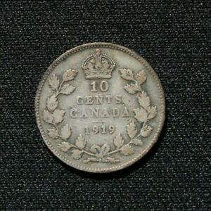 1919 Canadian dime (10 cent coin) - Silver (.925)