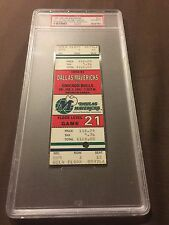 1991 Chicago Bulls Mavericks 2/1 Michael Jordan 31 Pts Ticket Stub PSA FULL