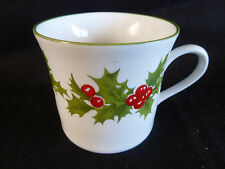 "Schmidt Brasil  1 Demitasse Cup   Holly & Berries Porcelana  2 7/8"""