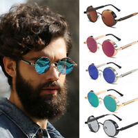 Vintage Retro Mirror Round SUN Glasses Goggles Steampunk Punk Sunglasses Unise