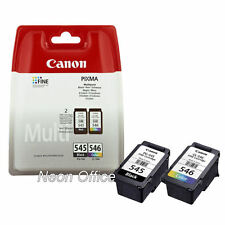 Canon PG545 Black & CL546 Colour Genuine Ink Cartridge For PIXMA MG3050 Printer