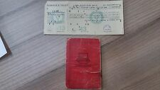 Jewish Judaica/Old Document/Taxi drivers association Haifa/Driver's License/1950