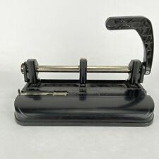 Acco Model 350 Adjustable 2 Or 3 Hole Paper Punch Heavy Duty Slide Guide Lever