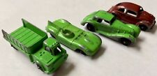 Vintage Tootsietoy Cars & Trucks Lot Of 4 Green & Red 1939 Mercedes