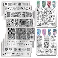 BORN PRETTY Nagel Stempel Schablone  Nail Art Stamping Plates Maniküre Stempeln