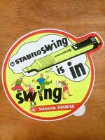 Vintage 1980s Sticker Schwan - STABILO Swing