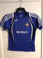 Authentic Adidas Djurgardens IF Stockholm Sweden Soccer Jersey Kids Sz M Blue