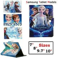 Samsung Galaxy Tab Case Flip Stand Disney Frozen Cover For Various Tablet models