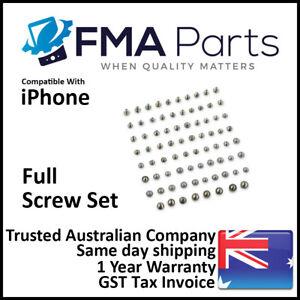 iPhone XS XR X 8 7 Plus 6 6S 5 5S 5C OEM FULL Screws Set Pentalobe Star Tripoint