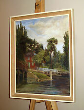 EDWARD CALLAM Oil Painting Cottage River Thames Marlow Buckinghamshire *£30 OFF*