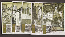 "2008 GREECE MOUNT ATHOS- ""HOLY MONASTERIES #2"" COMPLETE ISSUE ON MAXI CARDS"