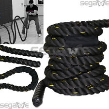 "Segawe Fitness 30ft Heavy Battle Rope 2"" W HD Poly Dacron Climbing WOD Training"