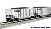 Kato 106-4623 N Bethgon Coalporter Hopper 8-Car Set Norfolk Southern (8pack)