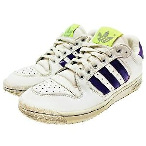 Women's Adidas Superstar Sneakers Shoes Purple And Lime #723001 Size 7 US VTG