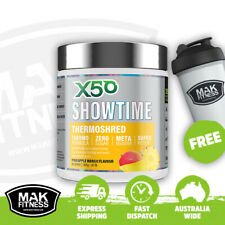 X50 Showtime Thermoshred Fat Burner | FREE Shaker & Shipping