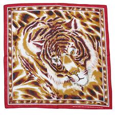 Zac's alter ego ® Tiger Print Pañuelo Algodón con Borde Rojo