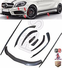MERCEDES BENZ W176 A CLASS A45 AMG AERO PACK FRONT KIT  SPLITTER SKIRTS FINS