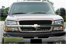 2003-2005 Chevy Silverado 1500/Avalanche Black Billet Grille-Upper 2Pcs