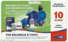 TRENO VERDE RICARICA E VINCI TIM  10 EURO USATA