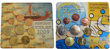 Greece - 2 Official BU Sets 2009 (with 2 Euro Europa and EMU)