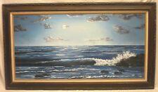 "48"" x 24"" Framed Oil on Canvas Seascape Scene by Margaret Weeks - VERY NICE"