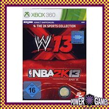 WWE 13 NBA 2k13 (Microsoft Xbox 360) Brand New