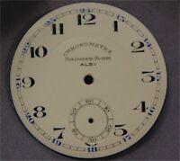 Cadran Fond de Montre à Gousset Email Emaillé Ancien Albi Chronomètre 37