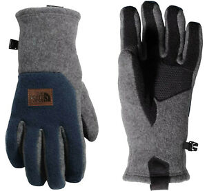The North Face Men's Logo Patch UR Gloves, Heather Grey Urban Blue, Large 7140-6