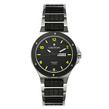 Croton Men's CN307500SSYL Millenium Quartz Ceramic Stainless Steel 44mm Watch