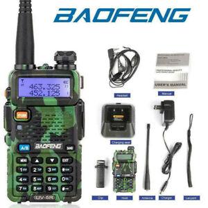 Baofeng UV-5R LCD Dual Band UHF VHF Walkie Talkie Ham Two Way Radio + Earpiece