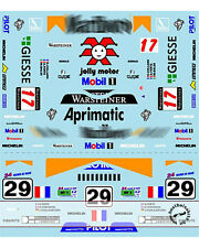 1/24 PORSCHE 911 GT1 LE MANS 98 DECALS for TAMIYA