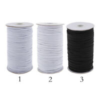 Elastic Cord String Band Elastic Rope Stretch Elastic Spool Knit for Sewing