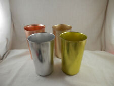 Vintage Bascal aluminum cups 12 oz set of 4 made in Italy