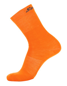 Win Lightweight Wool Blend Socks Orange by Santini M/L