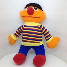 "Vintage 1980s SESAME STREET Stuffed Plush HASBRO SOFTIES 10"" ERNIE Doll"