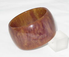 Rare Vintage Bakelite Bracelet Bangle purple stardust marble extra wide shape