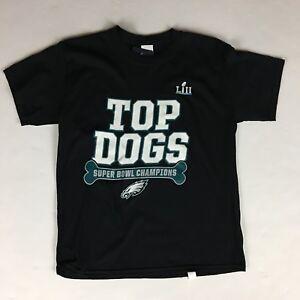 Kids Philadelphia EAGLES Super Bowl Champions TOP DOGS Tee-Shirt - Youth Medium