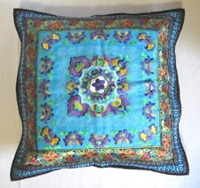 """Vintage Embroidered Pillow Cushion Cover Case 18"""" X 18"""" W/ Zipper"""