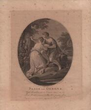 FRANCESCO BARTOLOZZI Antique Engraving PARIS AND OENONE 1781 OLD MASTER