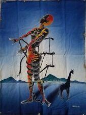 Batik Art The Burning Giraffe - 36H x 27W