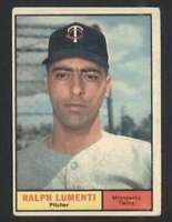 1961 Topps #469 Ralph Lumenti VG/VGEX Twins 48346