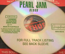 Pearl Jam Blood Australian Live CD Super Rare Rats Once Even Flow Indifference