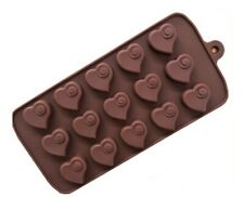 Valentine Heart Swirl Silicone Chocolate Box Mould Molds Professional Bakeware