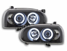 Scheinwerfer Angel Eyes CCFL VW Golf 3 Bj. 92-98 schwarz