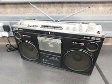 **VINTAGE** - RETRO HITACHI RADIO CASSETTE BOOMBOX TRK-8080E (Circa 1970`s) VGC