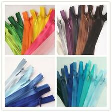 Lot of 10 Zippers 28cm Assorted Mix Colors Closed End Invisible Zippers 11 Inch